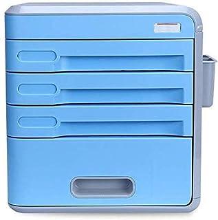 Armoires de bureau Type de tiroir de fichier Gestionnaire de papeterie Armoire 4ème étage en plastique A4 Armoire de donné...