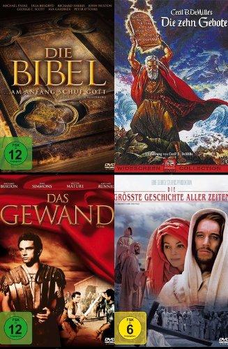 Die grössten BIBEL KLASSIKER : DIE ZEHN GEBOTE * DAS GEWAND * DIE GRÖSSTE GESCHICHTE ALLER ZEITEN * DIE BIBEL Monumentalfilme DVD Edition