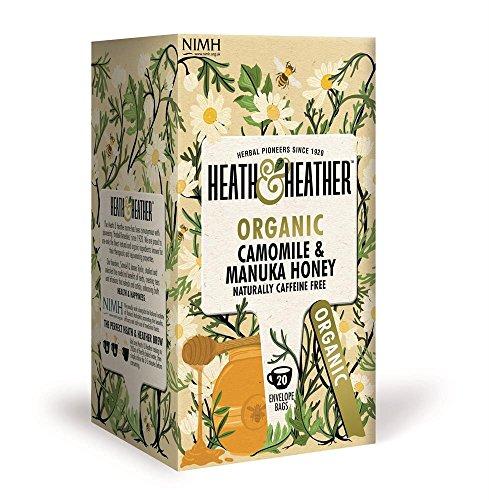 Heath & Heather Manzanilla orgánica con Sabor a Miel de Manuka naturalmente libre de cafeína - 1 x 20 bolsitas de té (30 gramos)