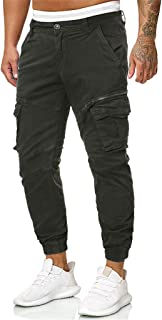 Mmnote Men's Trousers Casual Pure Color Outdoors Pocket Beach Work Trouser Cargo Pant
