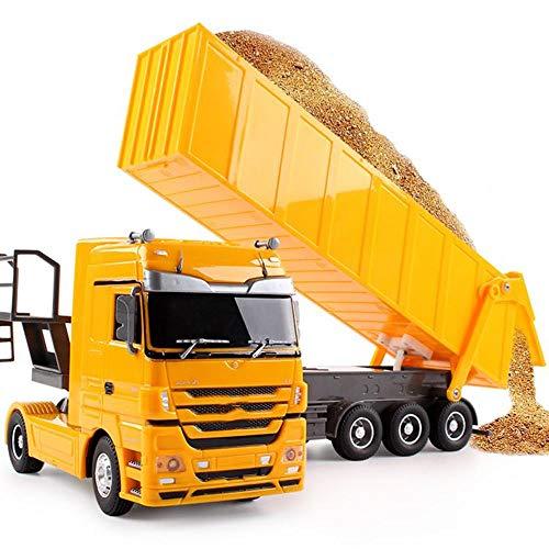Moerc RC camión volquete de 2,4 GHz 6-Pass multifunción Trailer Remote Control de 1:32 RC Semirremolque del de Educación Temprana Ingeniería La construcción de Tractores de Camiones de Juguete for el