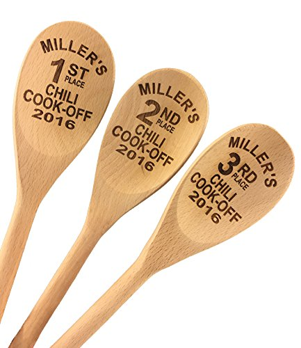 Engraved Chili Cook Off Wood Spoon Prizes