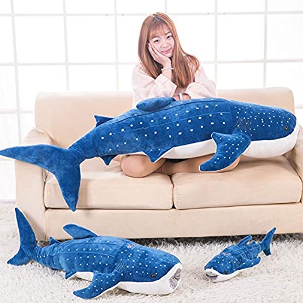 TRAFSK Authentic Simulation Large Plush Toy Doll Doll Whale Ocean Shark Pillow Pillow Doll Doll Must Have Items 4 Year Old Boy Gifts The Favourite Anime Superhero Classroom Unboxing Box