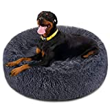 FOCUSPET Dog Bed Donut, Faux Fur Cuddler Bed Size XX-Large 46'' for Cats & Dogs Round Ultra Soft Washable Self Warming Pet Cuddler Beds