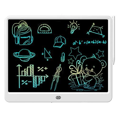 Tableta de escritura LCD de 15 pulgadas de pantalla colorida de dibujo, Doodle Board electrónico digital de dibujo Tablet para adultos y niños a partir de 3 años