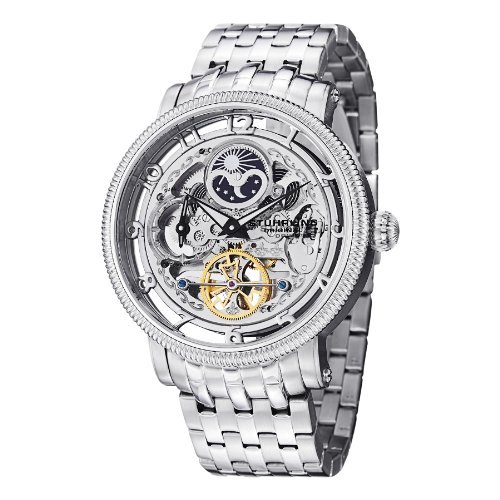 Stuhrling Original Symphony DT Men's Automatic Watch with Silver Dial...
