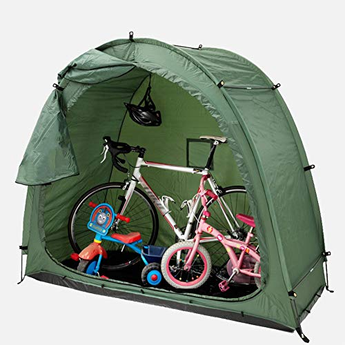 Large Cycling Bike Tent, Outdoor Waterproof And UV Proof Camping Bike Storage Shed, Bicycle Protective Cover with Canvas Window, for 2 Or 3 Mountain Road Bikes & Motorcycle