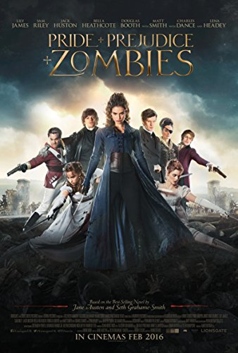 WMG Pride and Prejudice and Zombies - Movie Poster (2016), Size 24 x 36 Inches, Glossy Photo Paper (Thick 8mil)