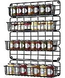 Especiero Cocina Pared, Set 4 Estanterías metálicas para especias por Armario...