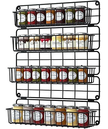 G.a HOMEFAVOR Gewürzregal Wandmontage 4-stufige Hängen Gewürzregal Organizer für die Wand, Küchenschrank, küchenschranktüren