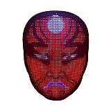 POHOVE Mas-k Led con Bluetooth programable LED Light Up Mas-k LED luminoso Mas-k Tipo-C recargable APP Control personalizado Cara Cove-r para Halloween Party Concert Masquerade