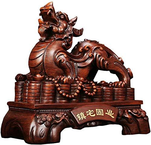 FGVBC Adorno de Feng Shui Pi Yao/Pi Xiu Estatua Riqueza Porsperity Escultura de Resina decoración para Oficina Familiar Regalo de la Suerte