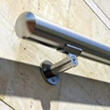 B52 Handrail Kit Aluminum Stairs Railing Anodized Stainless Steel Look 8 Ft and 1.97'diam