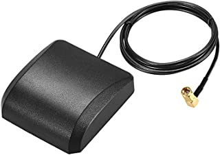 uxcell GPS Active Antenna Compatible with Beidou GNSS MCX Male Plug 42dB Aerial Connector Cable with Magnetic Mount 2 Meters Wire L