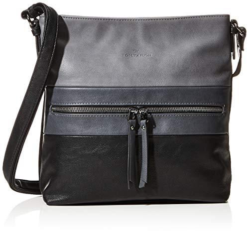 TOM TAILOR Shopper Damen, Ellen, (Schwarz), 30x30x8 cm, TOM TAILOR Taschen für Damen, Handtasche, Schultertasche, Hobo