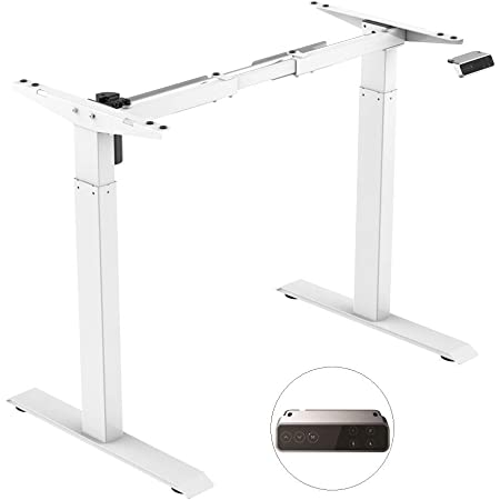 Silver 3-way telescope SANODESK EQ5 Height Adjustable Desk Electrically Height-Adjustable Table Frame With memory control