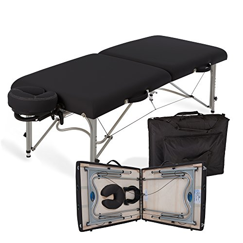 "EARTHLITE Portable Massage Table Luna - 30"" Wide, CFC Free Professional Foam, Weighs Only 29lbs, Patented, Strong Aluminum Reiki Frame (Working Weight 750lbs)"