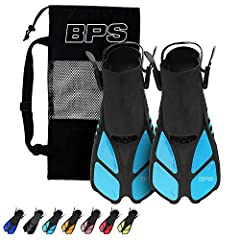 BPS SWIM FINS / FLIPPERS are made of high-quality Polypropylene (PP), and Thermoplastic Rubber (TPR); which will serve as a natural extension of your feet while swimming in a pool or diving/snorkeling in the open water. It offers the perfect amount o...