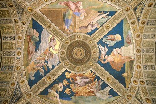 Raphael Ceiling Of The Room Of Eliodorus 1513 Italian High Renaissance Fresco Art Poster 18x12