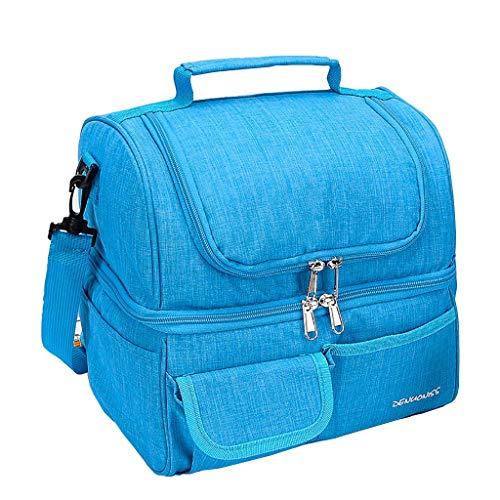Boîte à lunch sac sac à main Paquet d'isolation épaisse Sac à lunch étanche Sac de pique-nique en plein air pour les voyages Haut et bas 26 * 21 * 26 CM (Couleur : C)