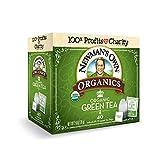 Newman's Own Organics Green Tea, 40 Individually Wrapped Tea Bags (Pack of 6)