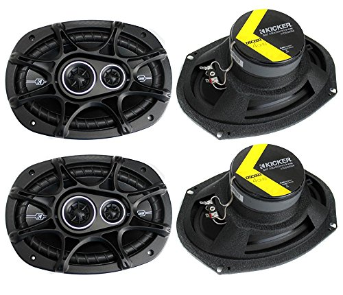 "Price comparison product image 4) New Kicker 41DSC6934 D-Series 6x9"" 720 Watt 3-Way Car Audio Coaxial Speakers"