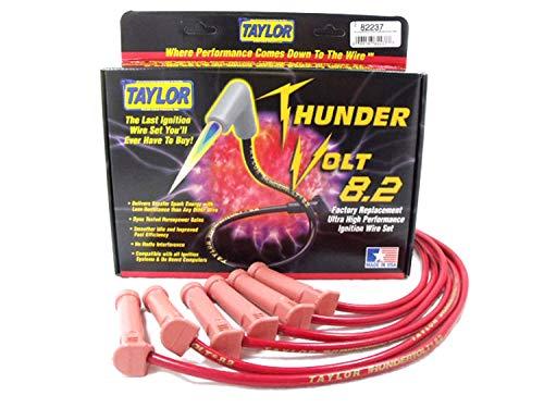 Taylor Cable 82237thundervolt 40Ohm ferrita núcleo rendimiento juego de cables de encendido Custom Fit Rojo thundervolt 40Ohm ferrita núcleo rendimiento juego de cables de encendido