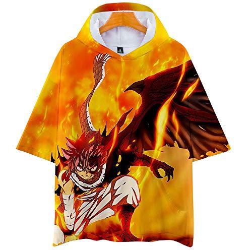Fairy Tail 3D Impresión Anime Hoodie T-Shirt Cosplay Manga Corta Camiseta Verano Pullover Tops Sudadera Con Capucha 4XL