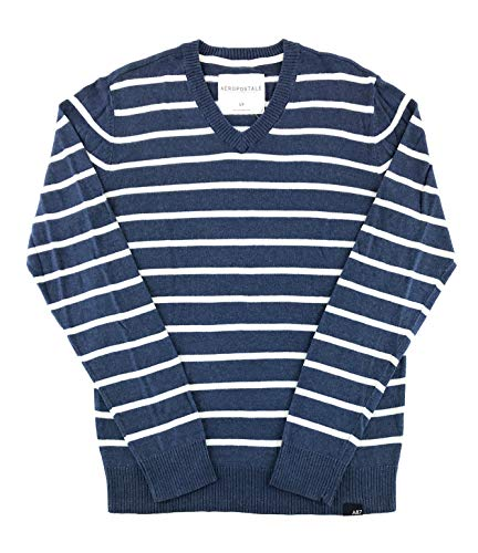 Aeropostale Mens Sweater Large Navy White 8527