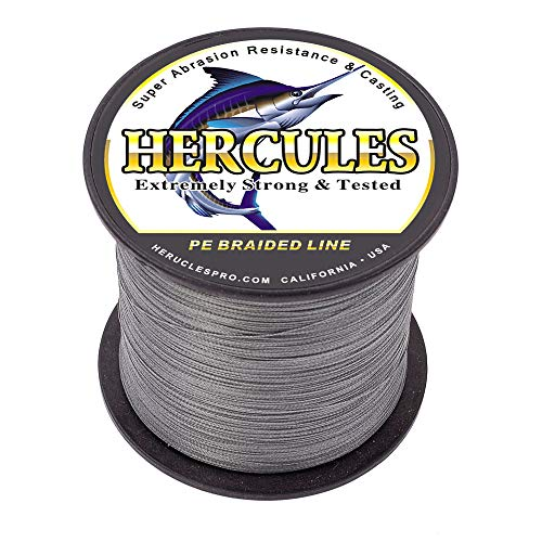Hercules Braided Fishing Line Pe Dyneema Superline 4 Strands 100m 109yds 6lbs-100lbs