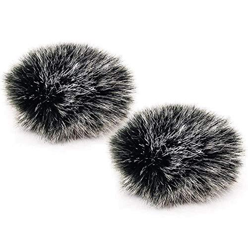 2 piezas de protección contra el viento para microfono, de pelo, para el parabrisas, protección contra el viento Lavalier, filtro de pop para exteriores, protección contra el viento (1 cm)
