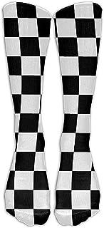 Unisex ondeando la bandera a cuadros Calcetines de carreras de coches de moda Calcetines deportivos Calcetines largos