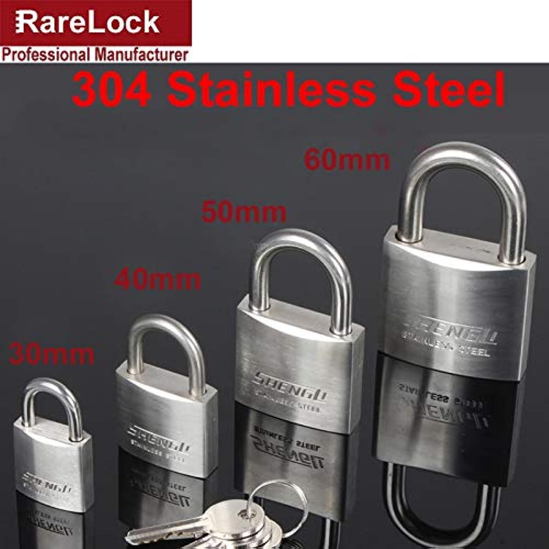 Rarelock 30,40,50,60mm 304 Stainless Steel Padlock with 2 Keys for Drawer Door Cabinet Lock DIY Furniture Hardware a  (color  30mm Keyed Alike)