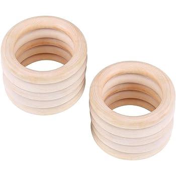 1 Packung Gefärbte Mischfarbe Holz Ring Anhänger Holzringe Bastelholz Holz