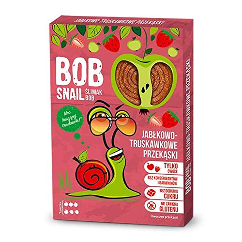 3 x Bob Snail - Apple-Strawberry Fruit Sweets 60g