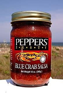 Crab Salsa - Peppers Blue Crab Zesty - (3 Pack of 12 Oz Bottles)