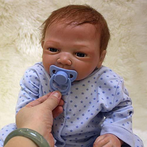 Nicery Reborn Puppen 20 Zoll 48-50 cm Weiche Vinyl und Stoff Schöne Baby Doll für Jungen Mädchen Geburtstag ot45002