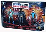 DC Comics Superman Batman Public Enemies Series 3 Pack 4 Inch Tall Action Figure Set - Captain Atom, Batman and Black Lightning