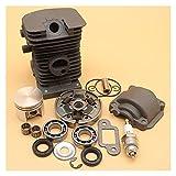 Kit de rodamiento de cámaras de cilindro de 38 mm para S-TIHL MS180 MS170 MS 170 180 017 018 Piezas de repuesto de la motosierra Pin de 10 mm 1130 020 1208