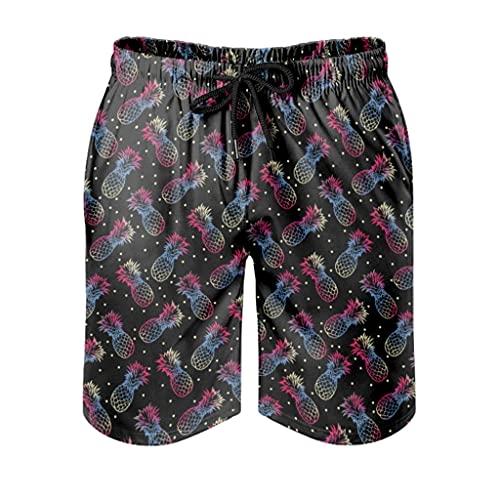 Ktewqmp Zomerzwembroek kleurrijk Pinapple mannen zwembroek zwembroek met zakken outdoor