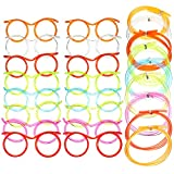 16 Pieces Silly Straw Glasses, Reusable Fun Loop Drinking Straw Eye Glasses, Novelty Eyeglasses Straw for Kids Party, Annual Meeting Parties ,Birthday, Fun Parties
