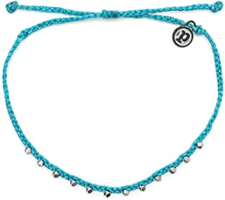 Silver Stitched Beaded Anklet- Waterproof, Artisan Handmade, Adjustable, Threaded, Fashion Jewelry for Girls/Women