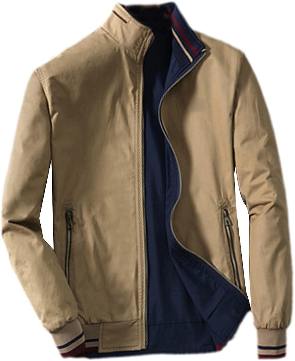 Spring Men's Bomber Jacket Fashion Men's Coat Windbreaker Stand Collar Jacket Slim Baseball Uniform