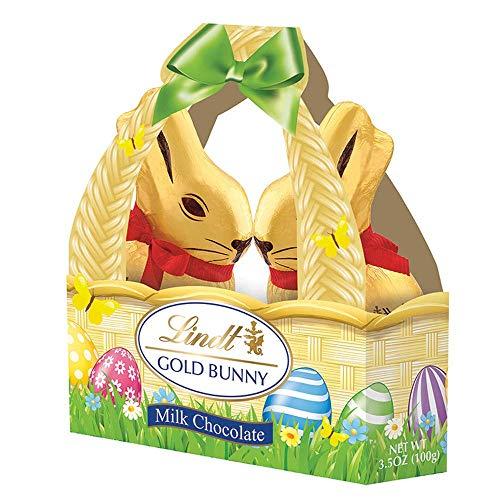 Lindt Gold foiled Milk Chocolate Bunny basket 100g by Lindt
