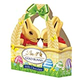 Lindt Gold foiled Milk Chocolate Bunny basket 100g by Lindt