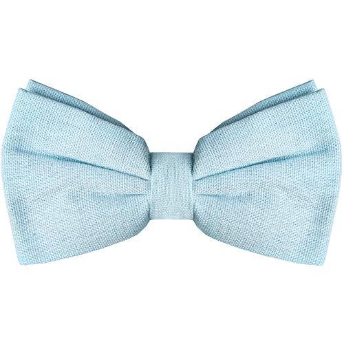 Pajarita para hombre - Pajarita preatada para esmoquin para adultos y niños,  Celeste (Baby Blue), Talla única