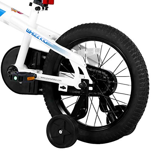 JOYSTAR 16 Inch Kids Bike with Training Wheels for Ages 4 5 6 7 Years Old Boys and Girls, Children Bicycle with Handbrake for Early Rider, White