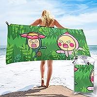 こびとづかん (2) 人気 新品 折り畳み包装 速乾 バスタオル 旅行する 運動する 水泳 折りたたみ収納 タオル おしゃれ 携帯に便利である 抗菌防臭 柔ら 布