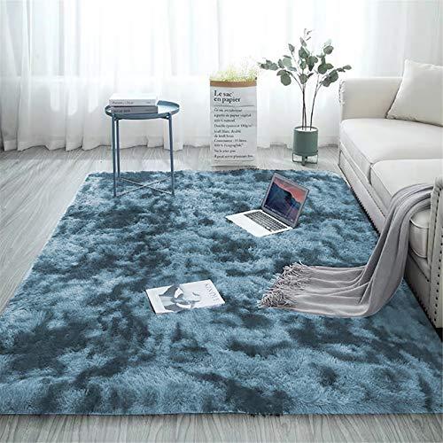 Aujelly Soft Area Rug - Tappeto shaggy per camera da letto a pelo lungo, morbido e colorato, 200 x 300 cm, colore: Blu scuro