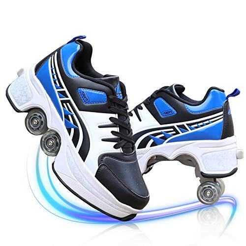 Deform Wheels Skates Roller Shoes Zapatillas De Deporte Casuales Los Patines De Hielo Polea Patinaje sobre Ruedas Quad Skating Hombres Mujeres Runaway